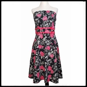 Oasis Floral Strapless Dress